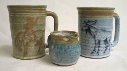 Large Mugs ....Small Pitcher