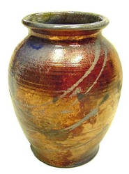 Gold Copper Raku Jar