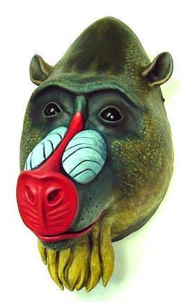 Adult Baboon Mask, Mandrill Monkey Mask   Escapade® UK