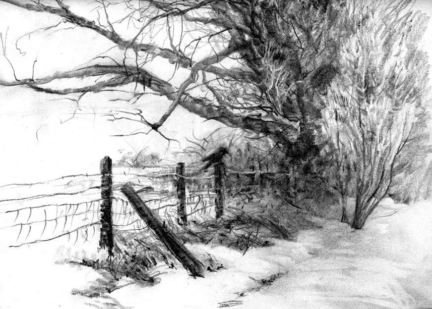 Pencil Sketches Of Nature Scenery Pencil Sketches Of Sceneries