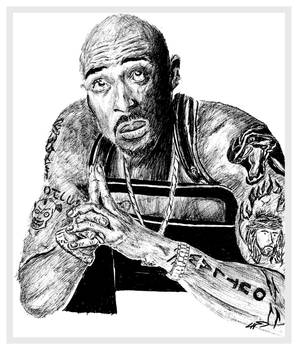 Sketch of 2Pac