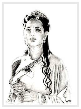 Sketch of Angelina Jolie from Alexander