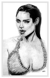 Sketch of Angelina Jolie by chorvath8