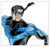 Color Sketch of Nightwing by chorvath8