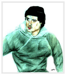 Sketch of Sylvester Stallone in Rocky by chorvath8