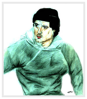 Sketch of Sylvester Stallone in Rocky