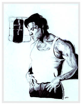 Sketch of Sylvester Stallone