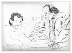 Sketch of Billy Crystal and Danny DeVito