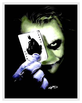 Digital Art of Joker from The Dark Knight