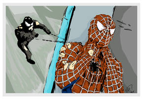 Digital Art of Spiderman and Venom by chorvath8