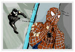 Digital Art of Spiderman and Venom