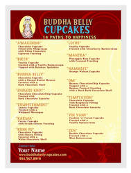 Graphic Design - Buddha Belly Cupcakes  Flyer Menu by chorvath8