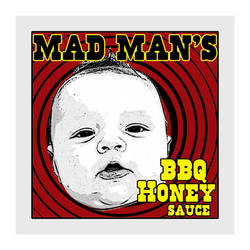 Graphic Design - Mad Man's BBQ Label by chorvath8