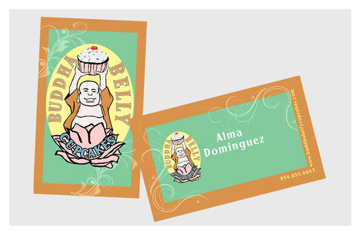 Business Cards - Buddha Belly Cupcakes