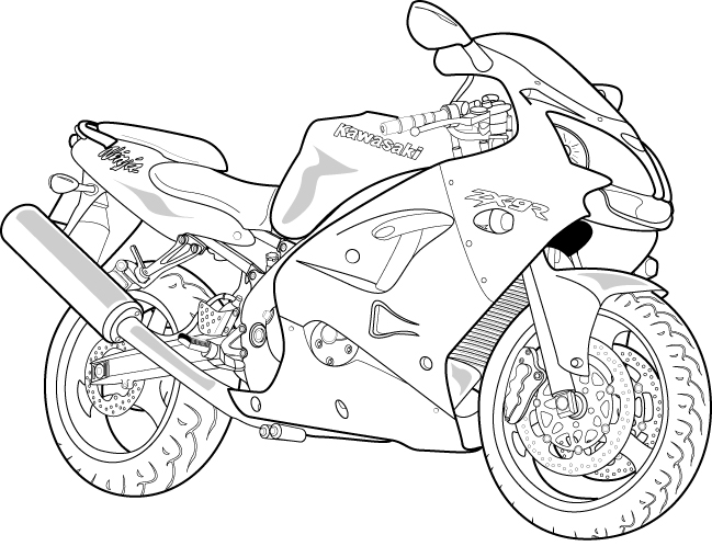 Line Drawing Motorcycle : Vector motorcycle by arrowinyourthroat on deviantart