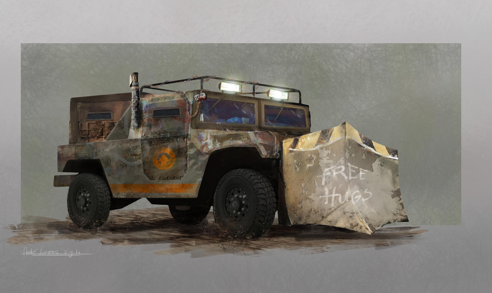 Post apocalypse vehicle by andrelammers