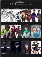 2017 Art Summary by classydove