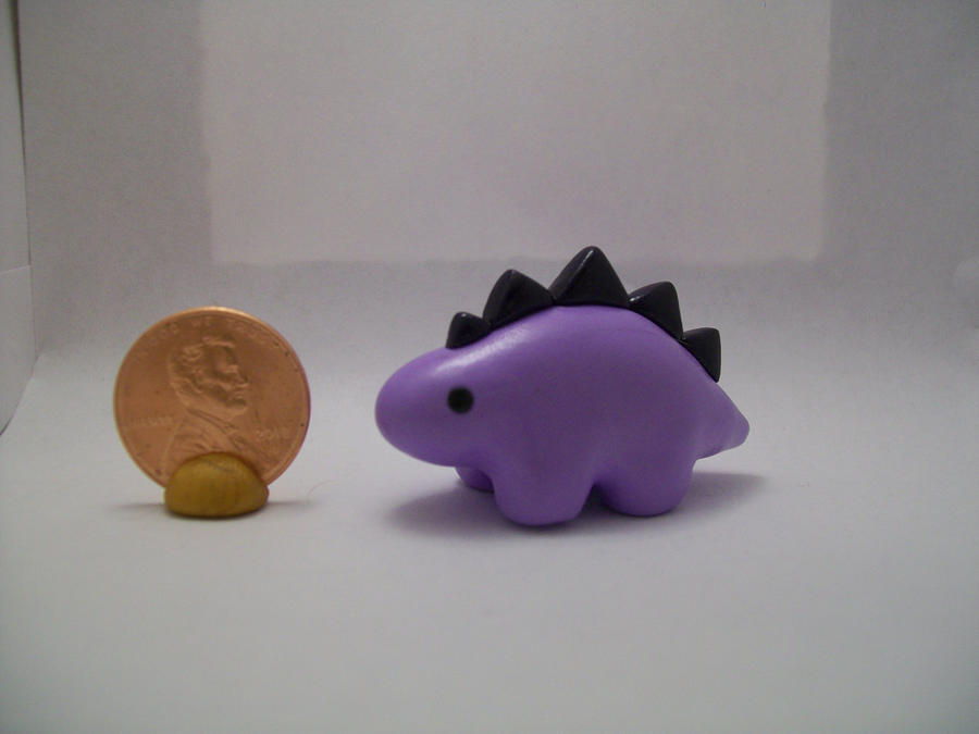 Mini Purple Dinosaur by ashitx