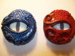 Blue and Red Dragon Jar Lids