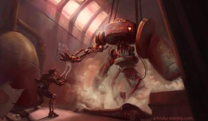 Steam Golem  - Bloodsports 15 by Luka87