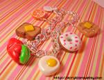 Breakfast Time Charm Bracelet