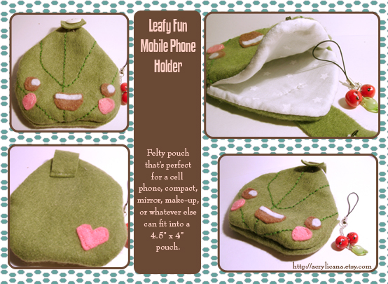 Leafy Mobile Phone Holder by tedsie