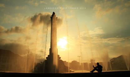 Tugu Muda di Sore hari by LaaLaa87