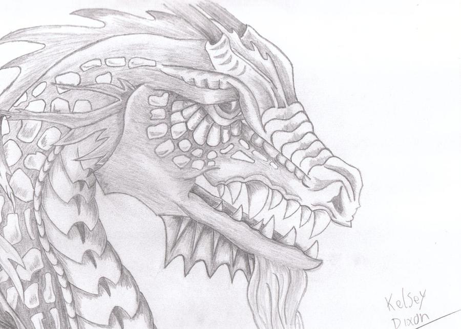 Viking Dragon Head Drawing