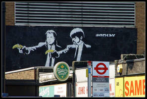 Banksy: Pulp Fiction by brownos