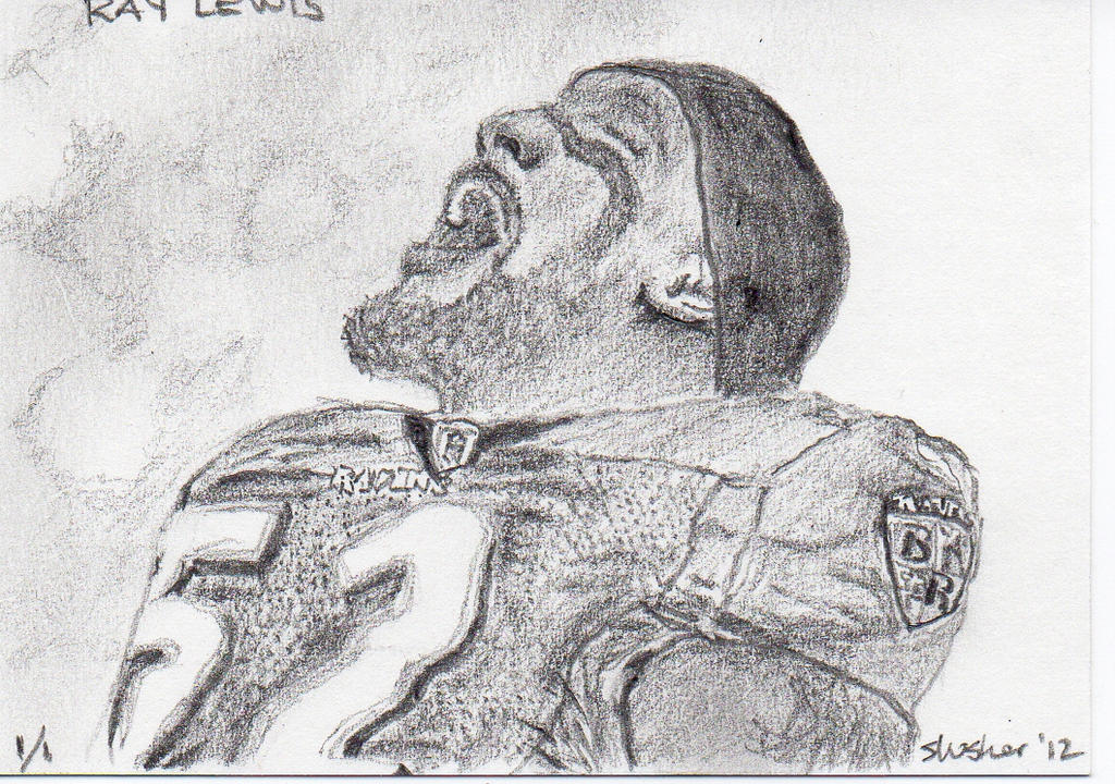 Ray Lewis Drawings Ray lewis sketch card by