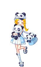 Panda Girl by clytzemi