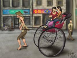 Rickshaw Driver by JustineCoyne