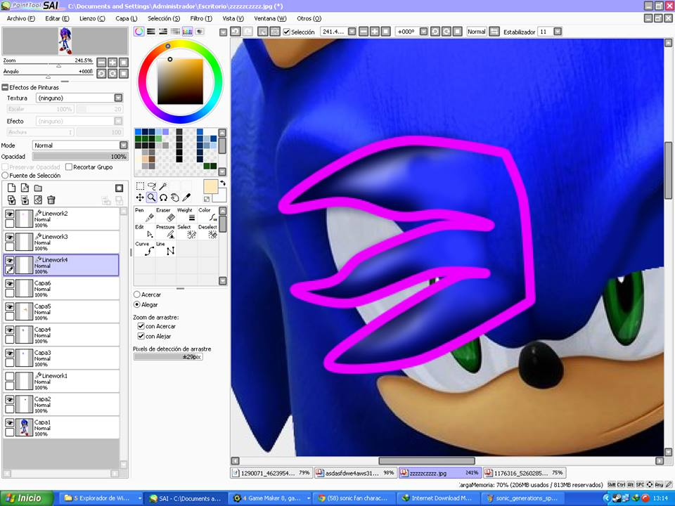 Paint Tool Sai How To Make A Simple 3d Lock By Nsmbxomega