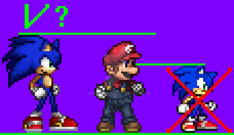 My Sonic resprite for Super Smash Flash 2? by NSMBXomega on DeviantArt