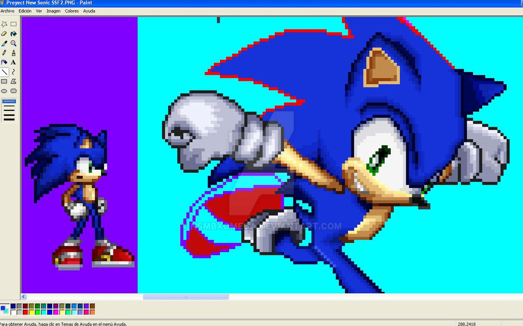 Sonic And Shadow In Ssf2 Style Correctingmistakes By – Dibujos Para