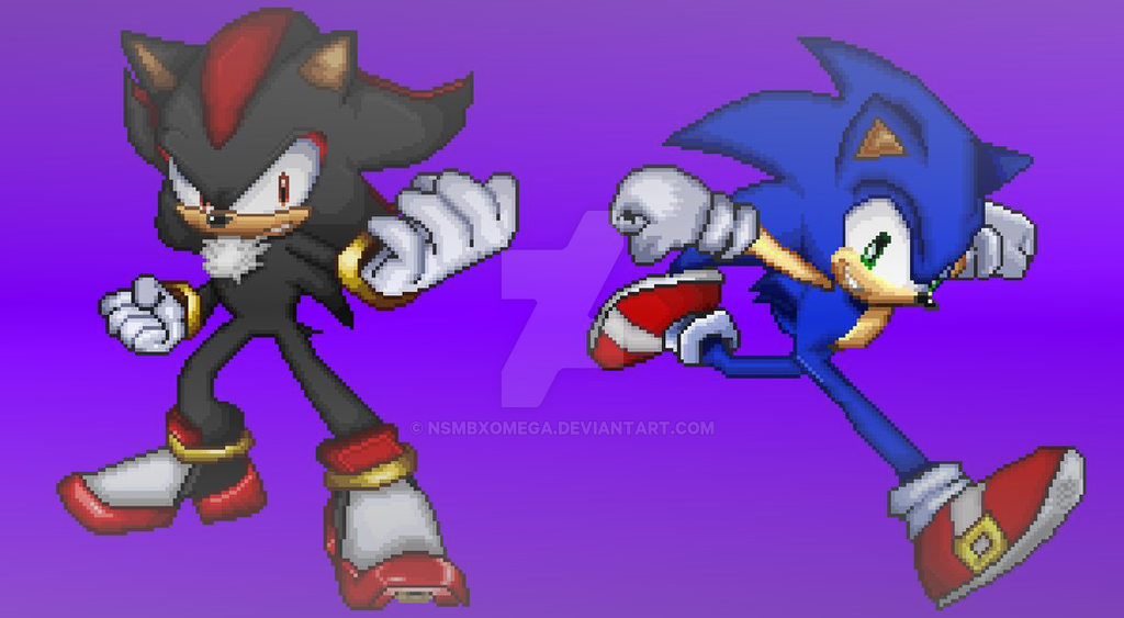 Sonic and Shadow In SSF2 StyleCorrectingMistakes by NSMBXomega