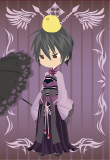 Hibari in a women's kimono by yoshi-in-black