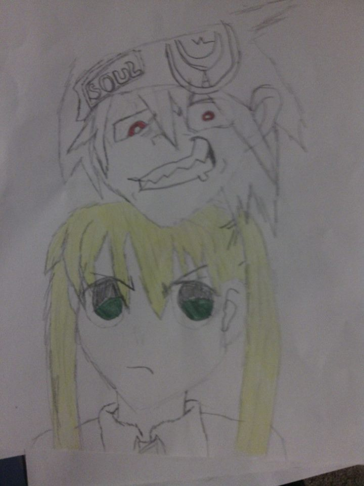 Soul and Maka by rockeyrose