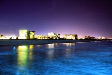 cocoa beach at night