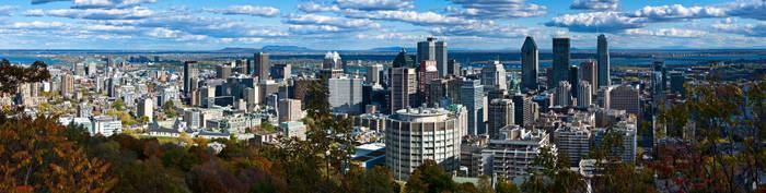 downtown montreal skyline pano