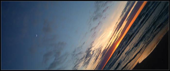moon-sunset panorama 2
