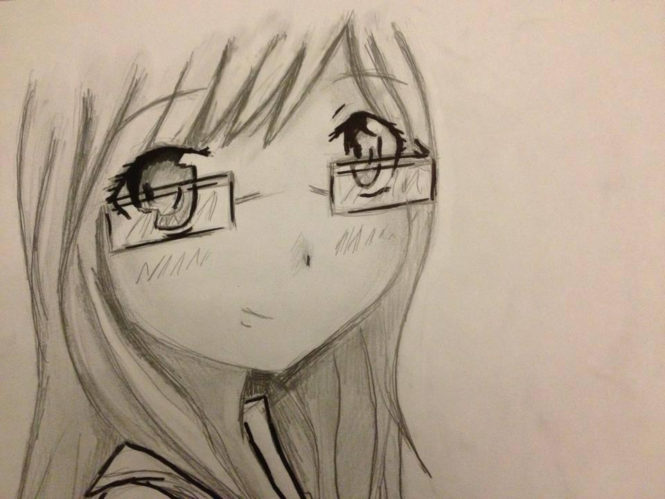 Manga Girl With Glasses By DrawMyManga On DeviantArt