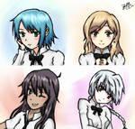 Katawa Shoujo- Miki, Suzu, Saki, Rika
