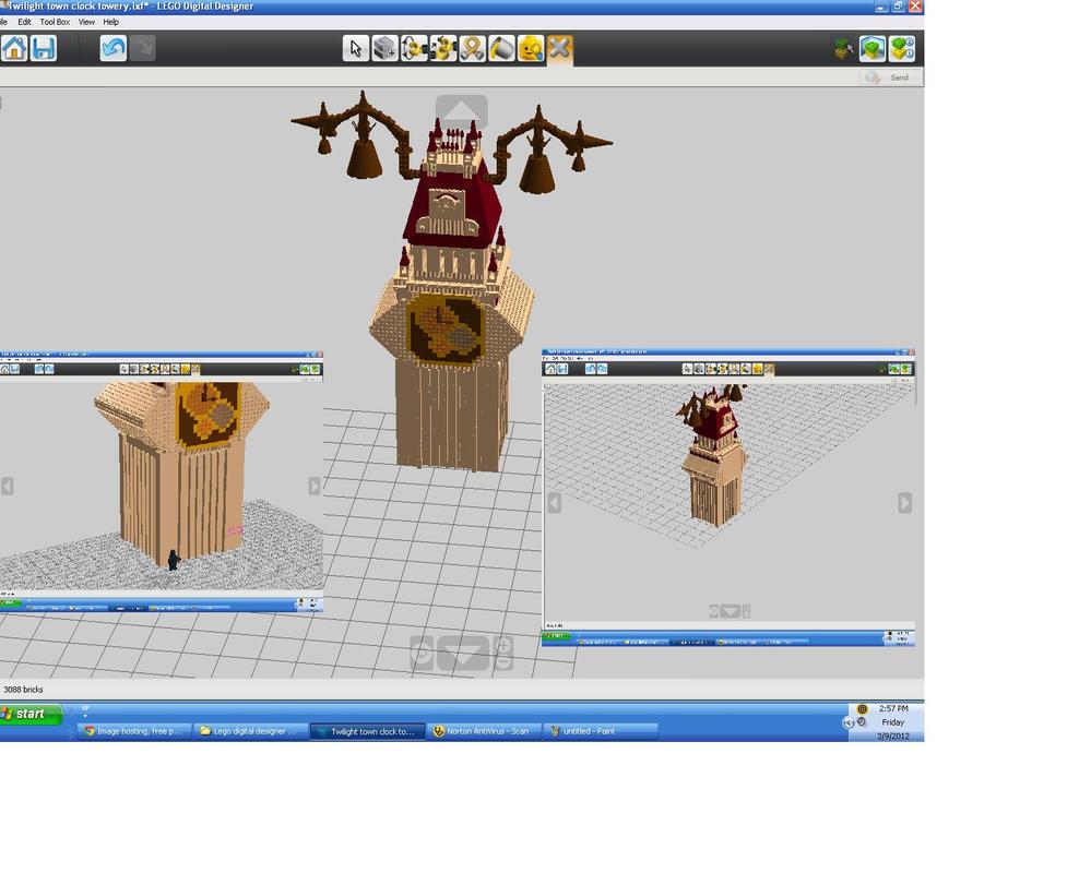 twilight town clock tower lego digital designer by chuchithathechuchu on deviantart. Black Bedroom Furniture Sets. Home Design Ideas