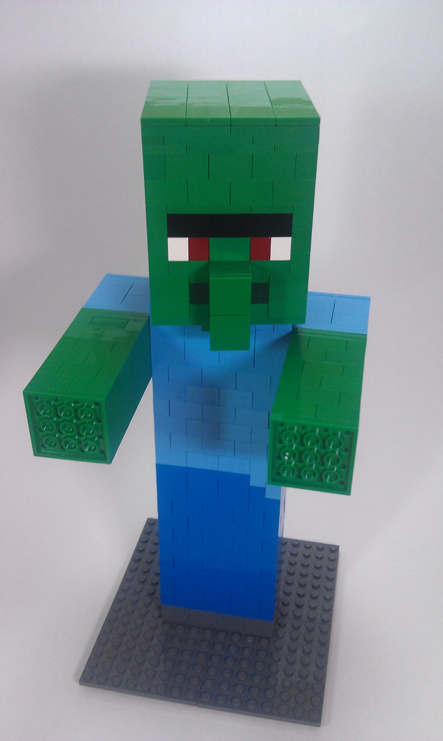 Minecraft villager head the image kid for Zombie build
