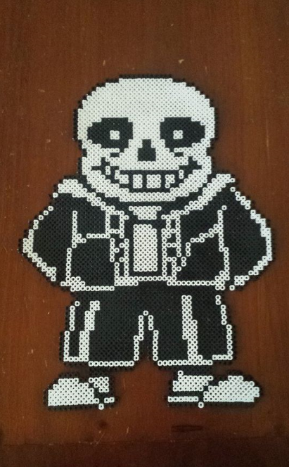 Undertale Sans Perler Bead Sprite by ChuchithaTheChuChu on ...