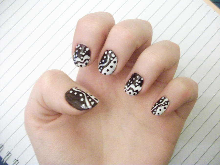Tribal Nail Art by ALittlePopPop on DeviantArt