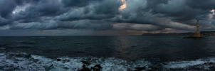 Chania Lighthouse and clouds by ArtSpawnGr
