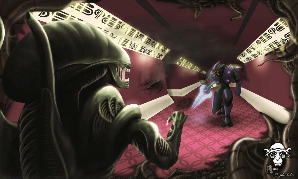 alien vs elite by jamesalexandermartin on DeviantArt  alien vs elite ...