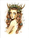 Girl with Antlers